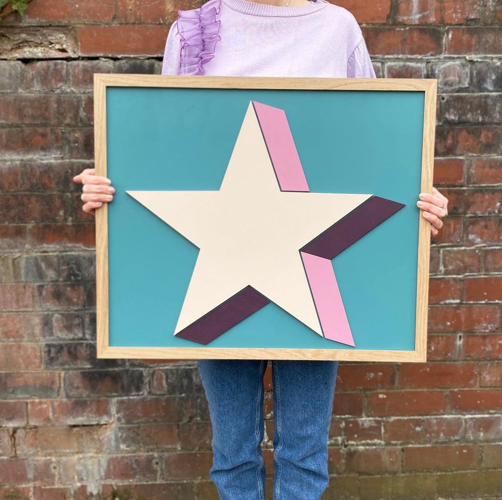 Large Painted Star Sign