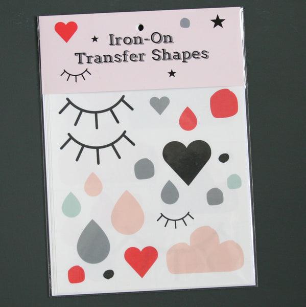 Iron On Hearts and shapes Transfers Wholesale