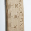 Personalised solid oak growth chart