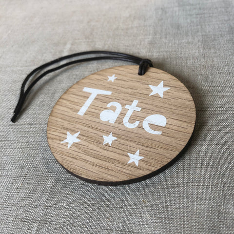 Personalised Star Baby Bag Tag