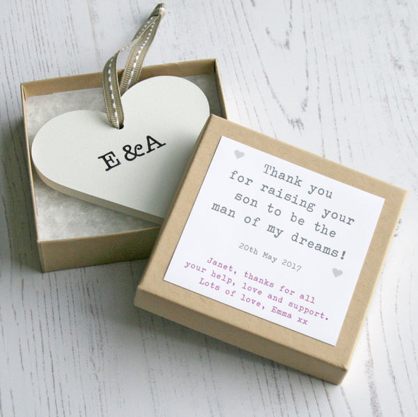 Personalised In Law Wedding Heart