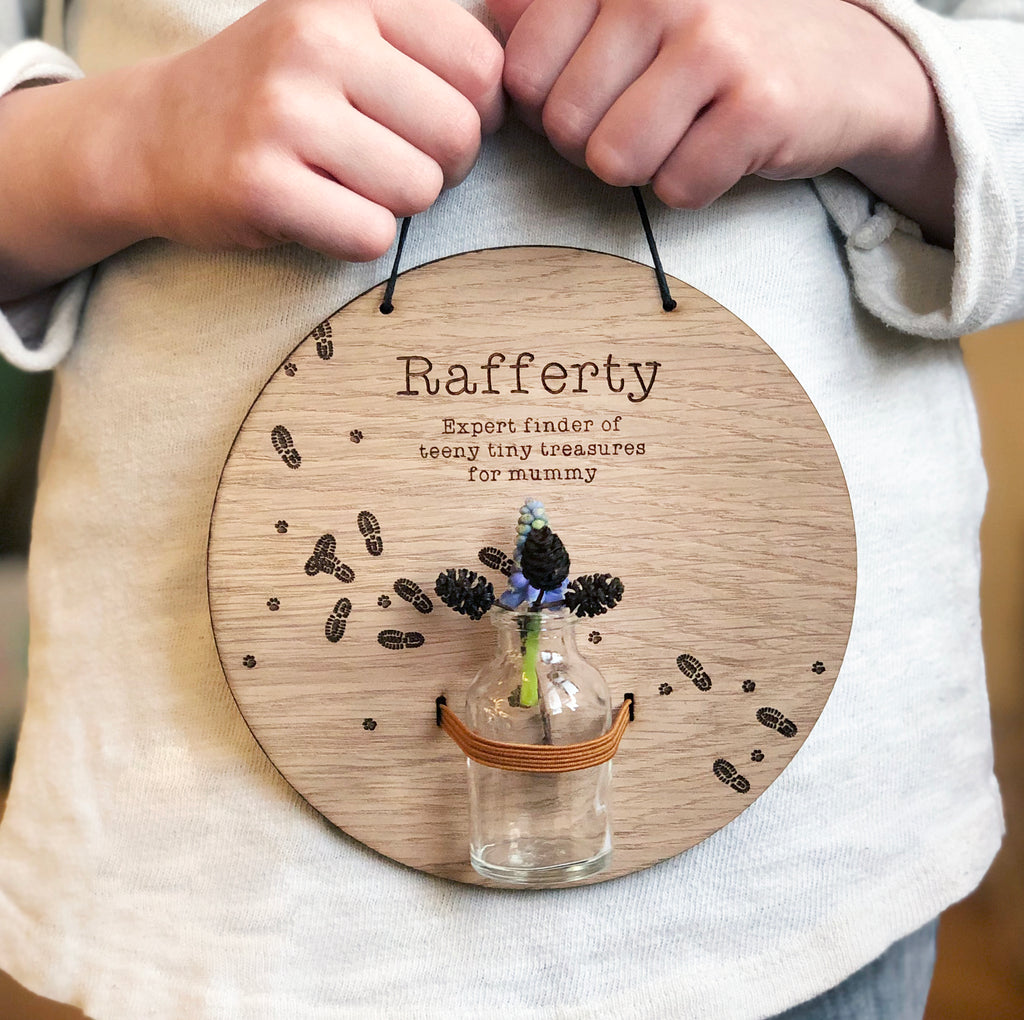 Personalised Tiny Treasures For Mummy Display Plaque