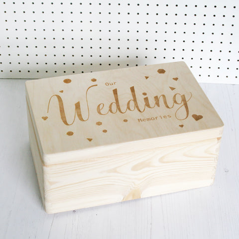 Wooden Our Wedding Memory Box Wholesale