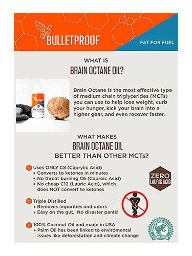 Brain Octane Oil - Bulletproof - 15 Go-Packs (15 x 15ml)