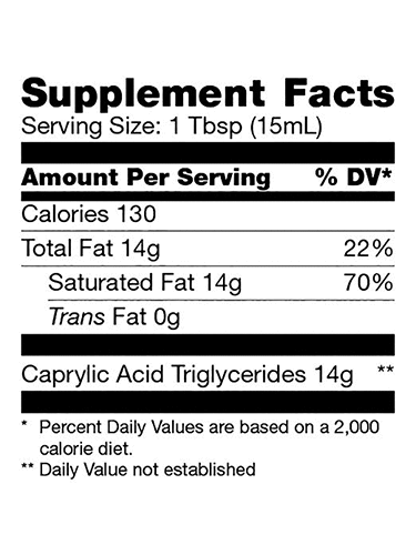 Brain Octane Supplement Facts