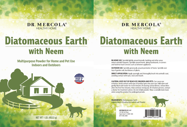 Diatomaceous Earth - Dr Mercola - 454g