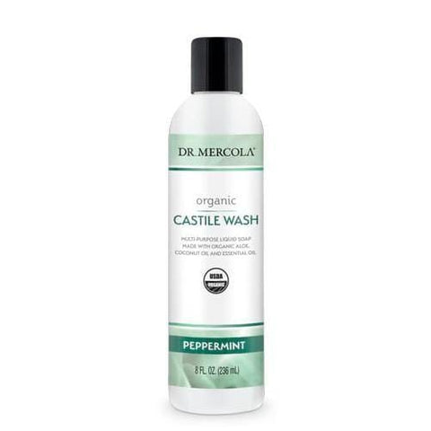 Organic Castile Wash Peppermint | Dr Mercola | 236ml
