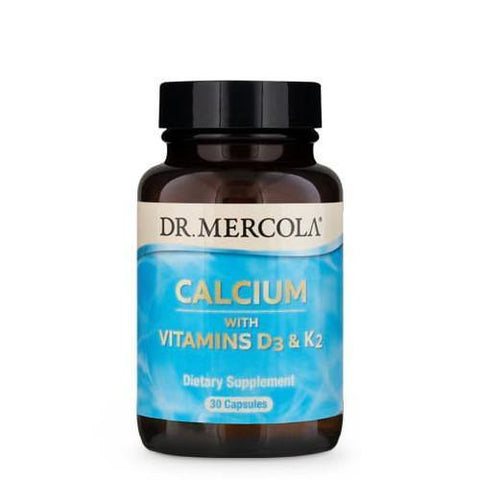 Calcium with Vitamins D3 & K2 | Dr Mercola | 30 Capsules