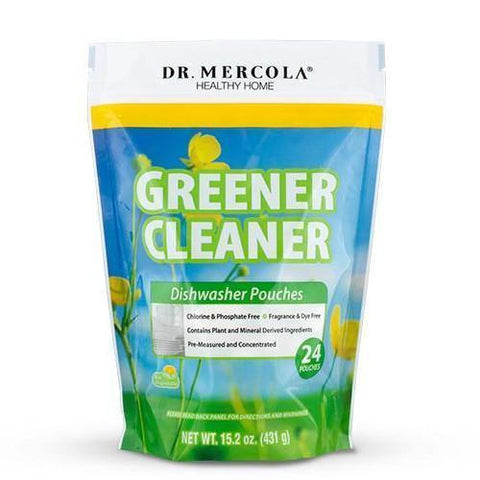 Greener Cleaner Dishwasher Pouches | Dr Mercola | 24 Pouches