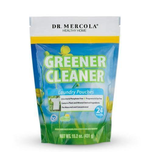 Greener Cleaner Laundry Pouches | Dr Mercola | 24 Pouches