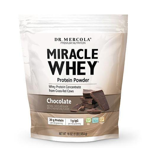 Miracle Whey Protein Powder | Dr Mercola | Chocolate | 454 g