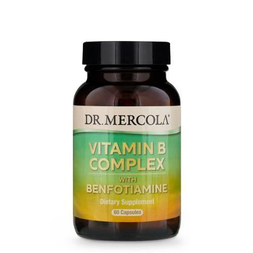 Vitamin B Complex with Benfotiamine | Dr Mercola | 60 Capsules - Oceans Alive Health