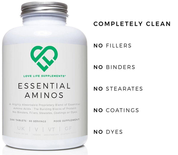 Essential Aminos | Love Life Supplements | 300 Tablets
