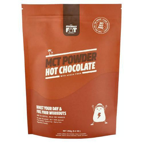 C8 MCT-POWDER Chocolate | The Friendly Fat Company | 260g - Oceans Alive Health