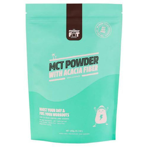 C8 MCT-POWDER with Acacia fiber | The Friendly Fat Company | 260g - Oceans Alive Health