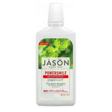 Powersmile Brightening Peppermint Mouthwash | Jason | 473ml - Oceans Alive Health
