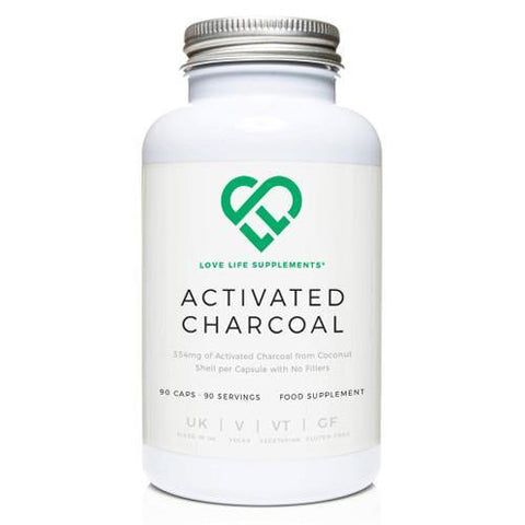 Activated Charcoal | Love Life Supplements | 90 Capsules