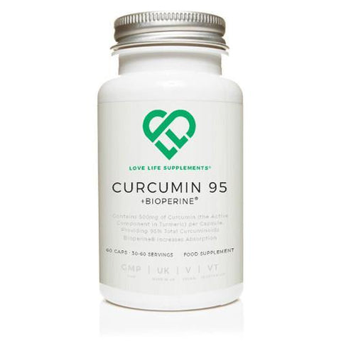 Curcumin 95 + Bioperine® | Love Life Supplements | 60 Capsules - Oceans Alive Health