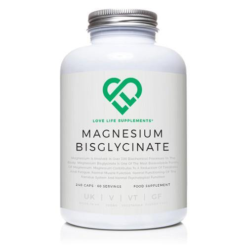 Magnesium Bisglycinate | Love Life Supplements | 240 Capsules - Oceans Alive Health
