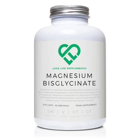 Magnesium Bisglycinate | Love Life Supplements | 240 Capsules