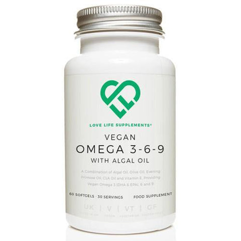 Vegan Omega 3-6-9 | Love Life Supplements | 60 Softgels