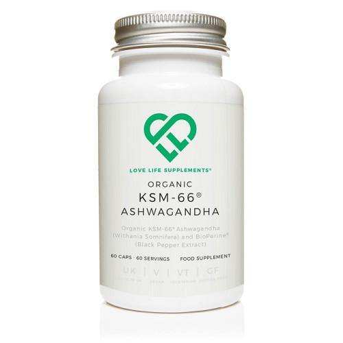 Organic KSM-66 Ashwagandha | Love Life Supplements | 60 Capsules - Oceans Alive Health