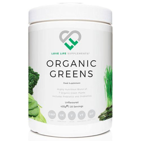 Organic Greens (Unflavoured) | Love Life Supplements | 405g