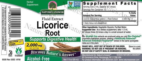 Liquorice Root | Nature's Answer | 30ml - Oceans Alive Health