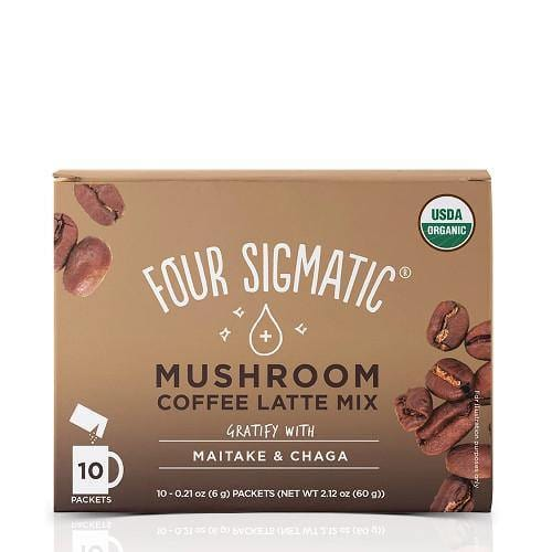 Mushroom Coffee Latte Mix with Maitake & Chaga | Four Sigmatic | 10 packets - Oceans Alive Health