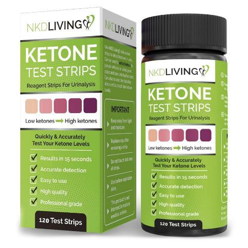 Ketone Test strips | NKD Living | 120 Test Strips - Oceans Alive Health