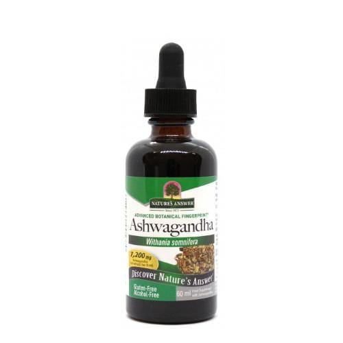 Ashwagandha Root (1200mg)  | Nature's Answer | 60ml - Oceans Alive Health