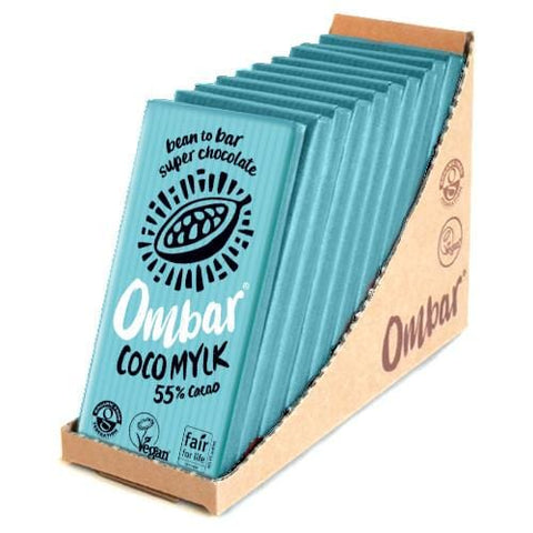 Ombar Organic Raw Chocolate | Coco Mylk  | Pack of 10