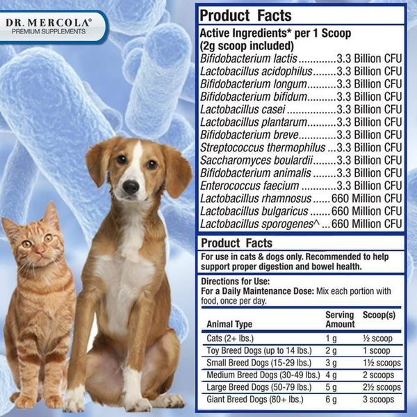 Complete Probiotics for Pets - Supplement Facts