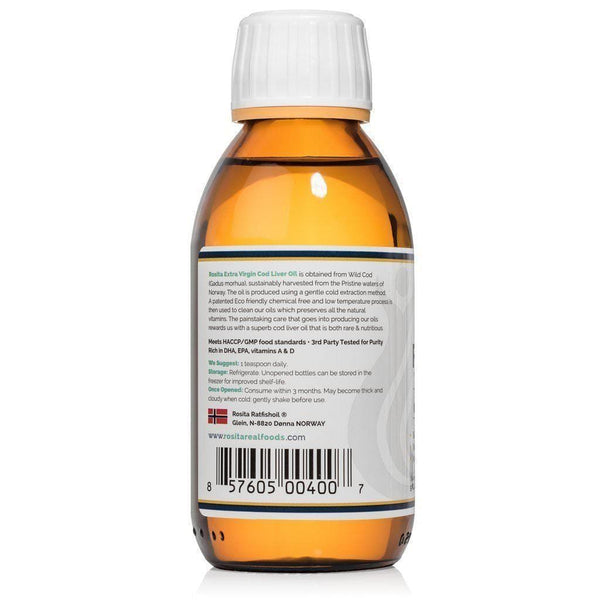 Extra Virgin Cod Liver Oil (EVCLO) - Rosita - 150 ml
