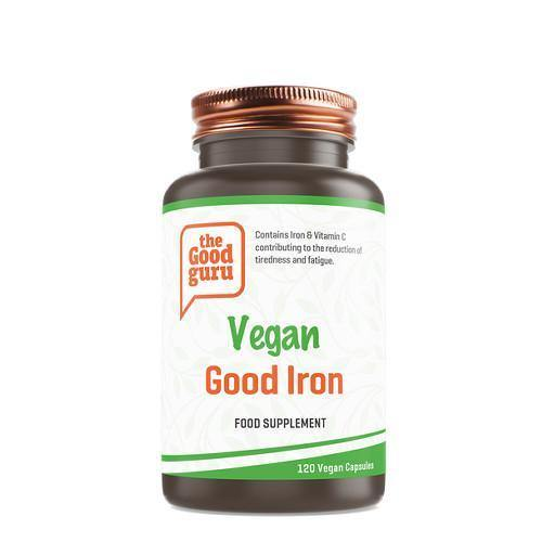 Vegan Good Iron | The Good Guru | 120 Vegan Capsules