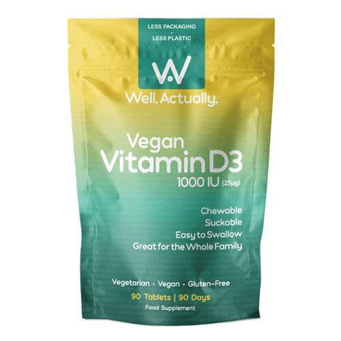 Vegan Vitamin D3 (1000IU) | Well.Actually. | 90 Tablets - Oceans Alive Health
