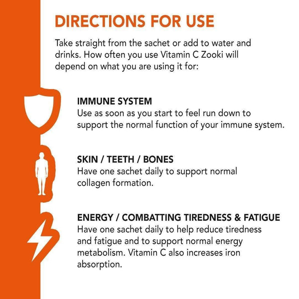 Vitamin C Zooki Directions for Use