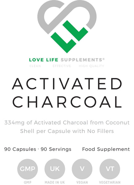 Activated Charcoal | Love Life Supplements | 90 Capsules - Oceans Alive Health
