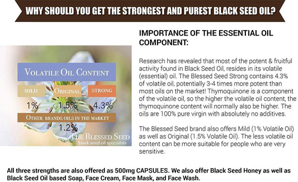 Black Seed Oil 'Strong' | The Blessed Seed® | 100ml - Oceans Alive Health