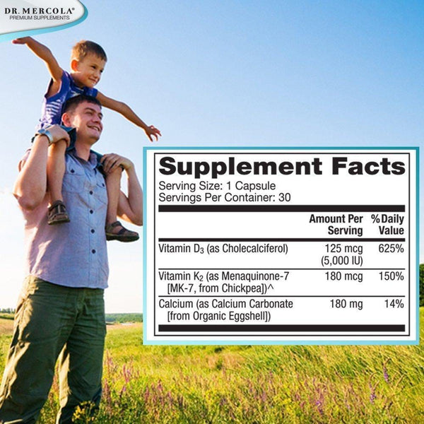 Calcium with Vitamins D3 & K2 - Dr Mercola