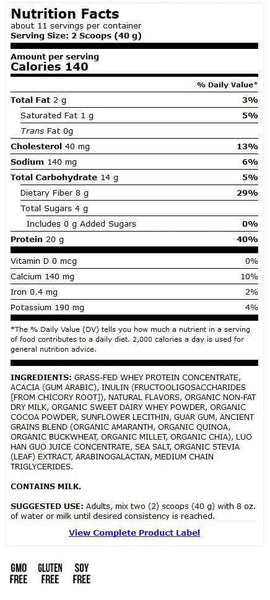 Miracle Whey Protein Powder | Dr Mercola | Chocolate | 454g