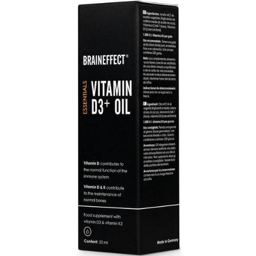 Vitamin D3 + Oil  | BRAINEFFECT | 20 ml
