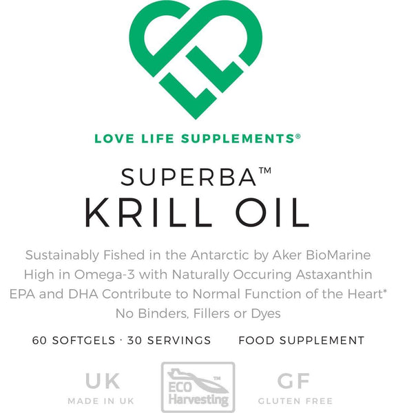 Superba Krill Oil 500mg | Love Life Supplements | 60 Softgels - Oceans Alive Health