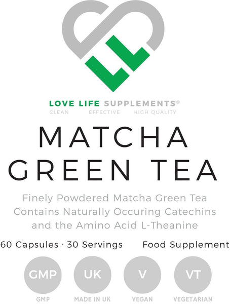 Matcha Green Tea | Love Life Supplements | 60 Capsules - Oceans Alive Health