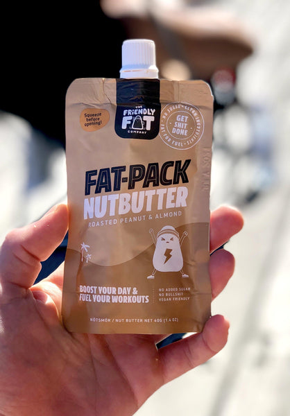 FAT-PACK NUTBUTTER Peanut & Almond | The Friendly Fat Company | 40g - Oceans Alive Health