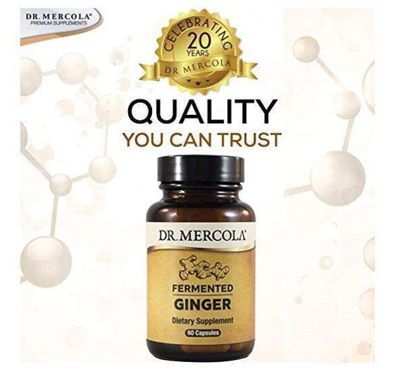 Fermented Ginger | Dr Mercola | 60 Capsules quality
