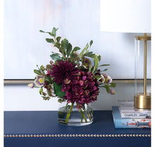 Load image into Gallery viewer, Diane James Plum Mums & Hydrangea Bouquet