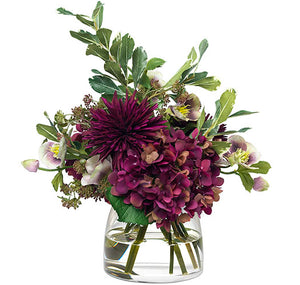 Diane James Plum Mums & Hydrangea Bouquet