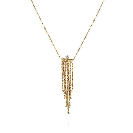 Sweet Pea Gold & Diamond Fabulous Fringe Necklace