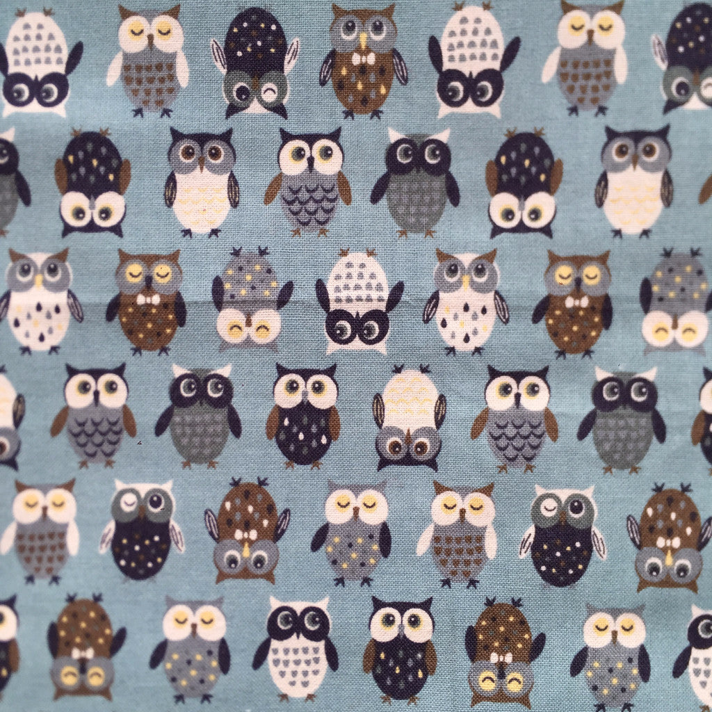 Wise Old Owl fabric